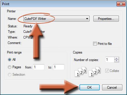 cutepdf printer