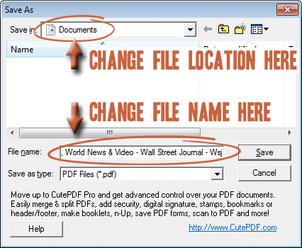 How To Make PDF Files with CutePDF Writer « TipTopSecurity