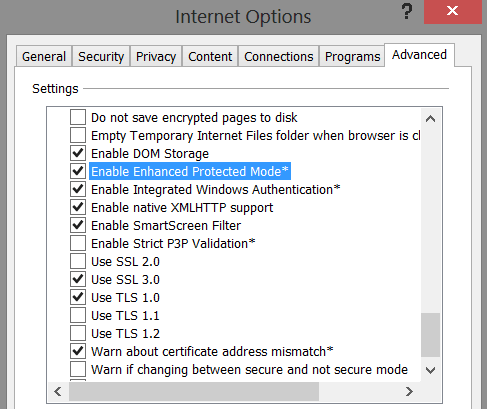 Internet Explorer 10 Security
