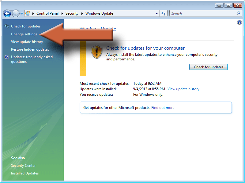 Image - Windows Update Vista