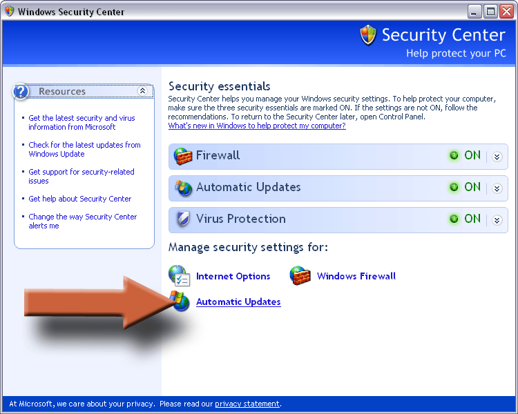 How To Update Windows Automatically – Instructions for Windows XP